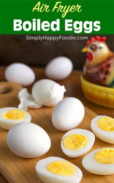 Air Fryer Boiled Eggs are an easy and waterless way to make perfect boiled eggs. Air fryer hard cooked eggs are so very simple to make! air fryer recipes by Air Fryer Recipes Low Carb, Air Fryer Dinner Recipes, Emeril Air Fryer, Perfect Boiled Egg, Air Frier Recipes, Making Hard Boiled Eggs, Air Fryer Healthy, Egg Benedict, Egg Muffins