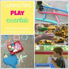 Summertime play essentials by Teach Preschool