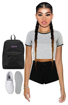 """""""Untitled #23"""" by california347 on Polyvore featuring JanSport, WithChic and Vans"""