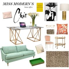 """""""Miss Modern's Home Office"""" by deluxemodern on Polyvore"""