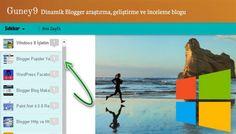 Dinamic Blog Sidebar Yazılar için Scrollbar