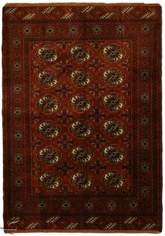 Central Asian Rug - Bokhara Carpet  Width103.00 cm (3,38 Feet) Lenght148.00 cm (4,86 Feet)