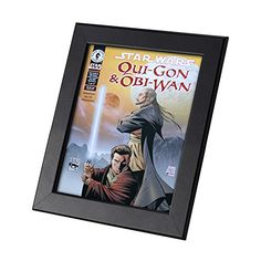 Star Wars Comics Framed Genuine Postcard QuiGon and ObiWan Anakin Frame *** You can get more details by clicking on the image.