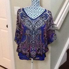 INC brand multi  color print blouse Multi color print blouse INC International Concepts Tops Blouses