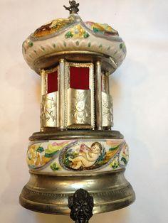 Cherub Music Box Carousel Cigar Lipstick Holder ect Great Colors Made Italy | eBay