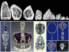 The Cullinan Diamond - When it was discovered in South Africa, the Cullinan was the largest diamond ever found. It was cut into more than 100 smaller pieces, the nine largest of which belong to the British Royal Family. - See more: video about the cutting, nine numbered Cullinan pieces