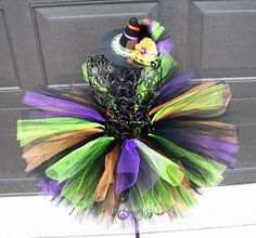 baby witch tutu and hat by linda