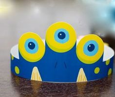 Monster Birthday Party Children's Party Crown (Royal Blue) a Monster Fest DIY Printable Collection by Spaceships and Laser Beams. $4.75, via Etsy.