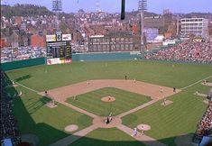 Crosley Field, home of the Cincinnati Reds Baseball Live, Baseball Park, Baseball Jerseys, Baseball Players, Baseball Field, Baseball Stuff, Cincinnati Museum, Mlb Stadiums