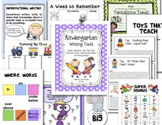 "Add to your instructional toolbox with ""Kindergarten Writing Tools.""  This resource includes many student pieces for spelling independence, suggested writing lessons using common toys, teaching posters, graphic organizers, awards for students, and more.  Preview the item at:  http://www.teacherspayteachers.com/Product/Kindergarten-Writing-Tools   (98 pages, $)"
