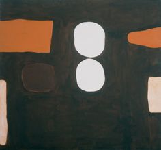 William Scott, Dark Brown, Orange and White, 1963, Oil on canvas, 160.5 × 173.1 cm / 63¼ × 68¼ in, Arts Council Collection, Southbank Centre, London