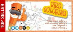 Download Birds Coloring Game FREE Unity.   Birds Colouring is a game for kids with amazing unique graphics and amazingly addictive experience. In the game, the player uses his or her creative skills and imagination to make awesome drawings. Like a colouring book, the game gives lots and lots of pet animals on which the user can draw and colour. #gamedev #indiedev #indiegame #indiewatch #indie #Unity #unityassets #games #gaming #unityassetfree #unity3d #gamedevelopment #gamedevs Colouring, Coloring Books, Unity Tutorials, Awesome Drawings, Unity 3d, Color Games, Creative Skills, Indie Games, Popular Pins