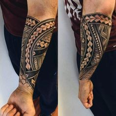 40 Polynesian Forearm Tattoo Designs For Men - Masculine Tribal ...