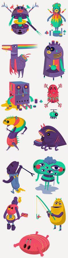 Área Visual - Blog de Arte y Diseño: Los ilustraciones y diseños de David Pocull
