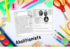 Teach your students about Abolitionists before the Civil War with this differentiated, interactive lesson!  William Lloyd Garrison, Frederick Douglass, Wilmot Proviso, Free Soil Party information included!