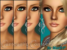 Curiousity eye contacts by MartyP - Sims 3 Downloads CC Caboodle
