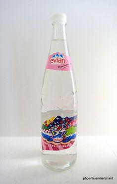 Romero Britto 2006 Evian Water Bottle Limited Edition