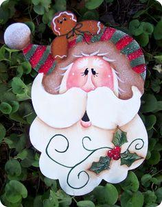 Holly Santa Ornament