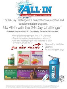 2015 - be all in - for a healthier lifestyle  Let's do this - get more energy, lean out loose weight just feel great message me for more info
