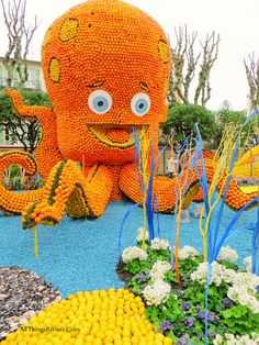 "Celebrating the end of Winter in Menton - ""funny octopus in Lemon Festival - What to see in Menton"" via All Things Riviera"