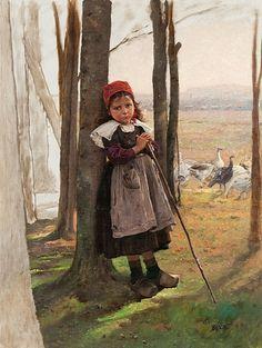 Václav Brožík: Husopaska, 1888–89