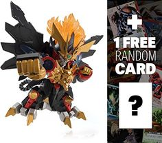 Genesic Gao Gai Gar The King of Braves GaoGaiGar x Bandai NXEDGESTYLE Action Figure Series  1 FREE Super Robot Anime Themed Trading Card Bundle * To view further for this item, visit the image link.