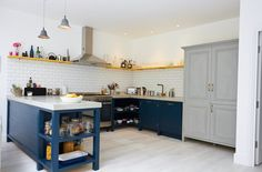 A bespoke painted reclaimed upcycled kitchen - London. Pinned from Arnolds Kitchens
