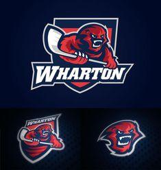 Wharton Logo Concept | See 100+ Sport Club Logo Designs at iBrandStudio.com