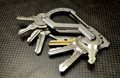 EDC Multifunction quickdraw belt guard key holder stainless steel carabiner key chain