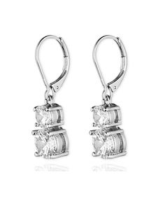 Anne Klein Flawless Crystal Lever-Back Double-Stone Drop Earrings ** Be sure to check out this awesome product. (This is an affiliate link) #NiceJewelry