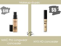 Makeup dupes: MAC Pro Longwear concealer dupe