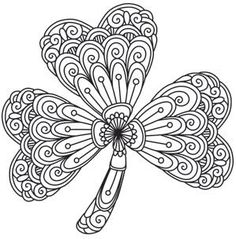 shamrock coloring pages for adults 118 Best Coloring: St.Patrick's Day images | Coloring pages  shamrock coloring pages for adults