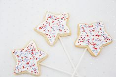 Get red, white and blue ready with star sparkler cookies!