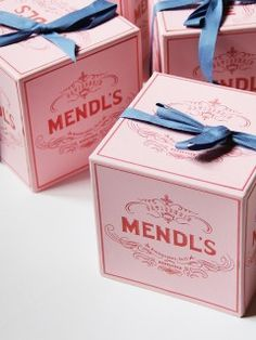 Graphic Designer Annie Atkins | The Grand Budapest Hotel MENDL's Boxes Colours Pink Blue