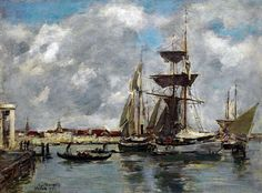 Eugene Boudin - Venice Grand Canal, 1895 at Museo Thyssen-Bornemisza Madrid Spain
