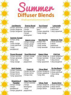 of the Best Summer Essential Oil Diffuser Recipes {with FREE PRINTABLE} 25 ~~ of the best summer essential oil diffuser blends with FREE ~~ of the best summer essential oil diffuser blends with FREE PRINTABLE Essential Oil Diffuser Blends, Doterra Essential Oils, Doterra Diffuser, Oils For Diffuser, Best Smelling Essential Oils, Helichrysum Essential Oil, Yl Oils, Young Living Oils, Young Living Essential Oils