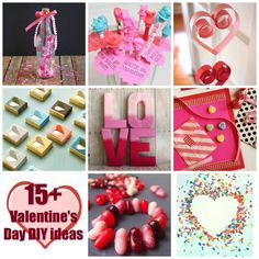Over 15 ideas of Valentine's Day DIY and crafts
