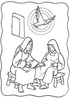 Nativity scene, christmas, coloring pages