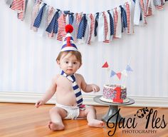 Cute cake and banner