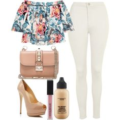 A fashion look from May 2016 featuring Elizabeth and James tops, Topshop jeans and Giuseppe Zanotti pumps. Browse and shop related looks. Girly Outfits, Classy Outfits, Summer Outfits, Cute Outfits, Fashion Outfits, Female Outfits, Work Outfits, Fashion Trends, Fashion Beauty
