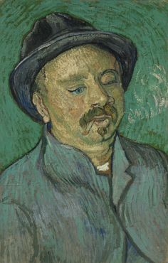 Art of the Day: Van Gogh, Portrait of a One-Eyed Man, December 1888. Oil on canvas, 56.0 x 36.5 cm. Van Gogh Museum, Amsterdam.