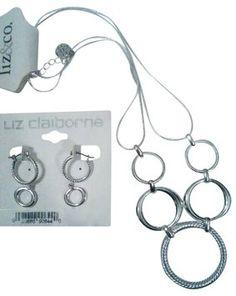 Liz Claiborne Liz claiborne 2pc. Signature Circles Necklace & Earring Set Brand New Gift Quality