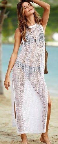 """""""Blog de enseñanza gratuita en patronaje y diseño de modas, corte y confección, recetas de cocina, psicología y autoestima"""" Beach Dresses, Dress Beach, Beach Cover Ups, Swimwear Cover Ups, Crochet Lace, Beachwear, Summer Outfits, Mom, My Style"""