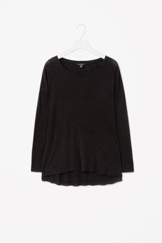 Wool-mix jersey top