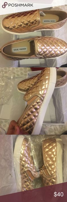 Steve Madden ecentrcq Rose Gold sneakers size 7 Brand new , never worn still in box and wrapping size 7 rose gold Steve Madden sneakers. Steve Madden Shoes Sneakers