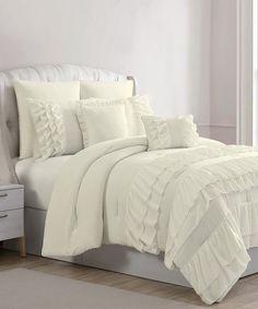 Another great find on #zulily! Ivory Denise Eight-Piece Comforter Set #zulilyfinds