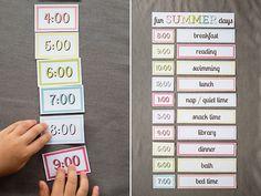 Great printable summer schedule printable