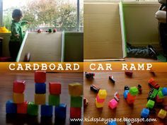 Kids' Play Space - a mother's journey: Cardboard car ramp
