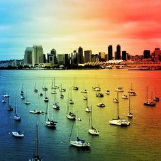 San Diego pier from Coronado Beach