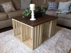 Mesa de centro del cajón rústico con madera recuperada